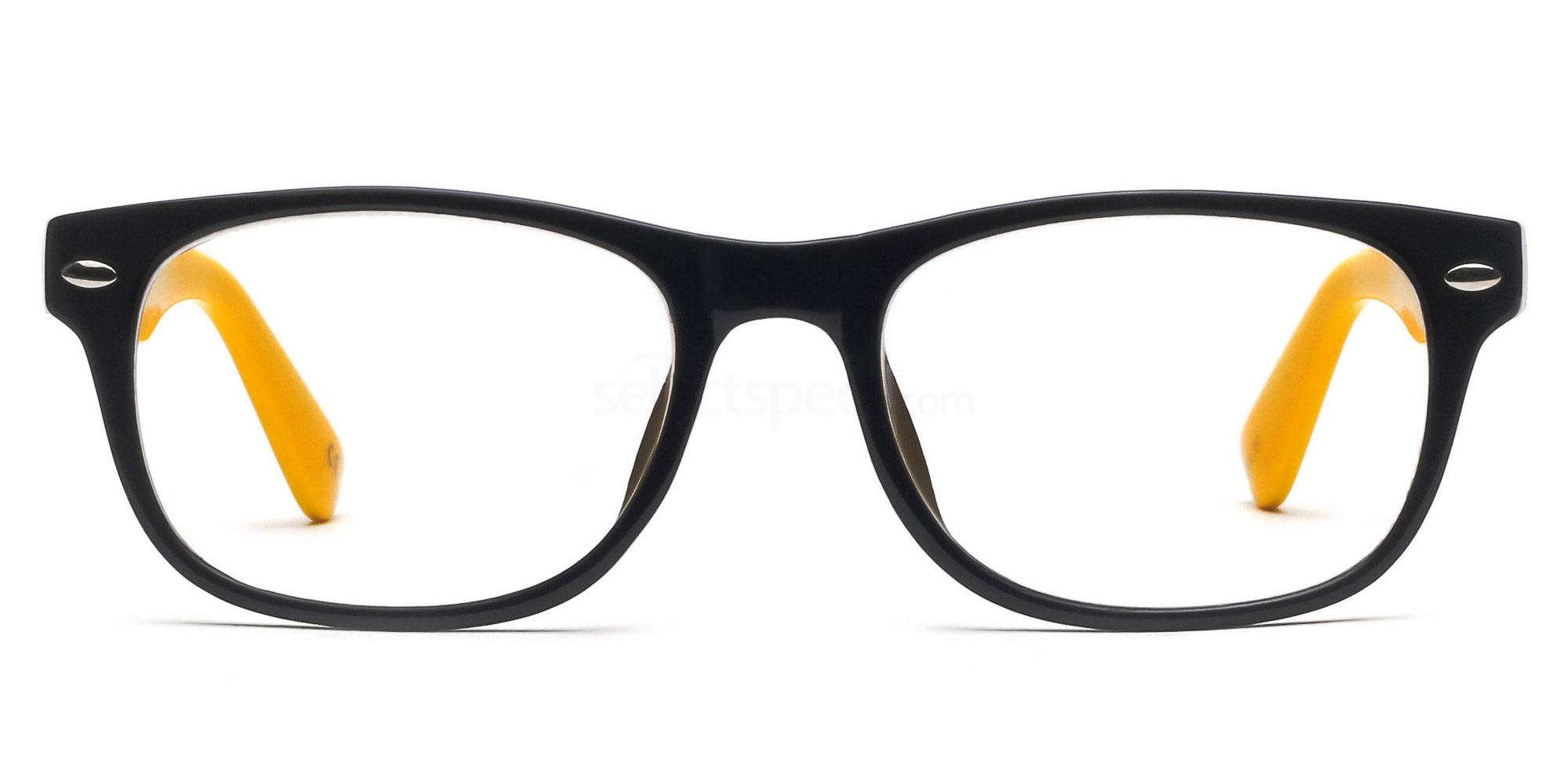 Black and Yellow P2383 - Black and Yellow Glasses, Savannah