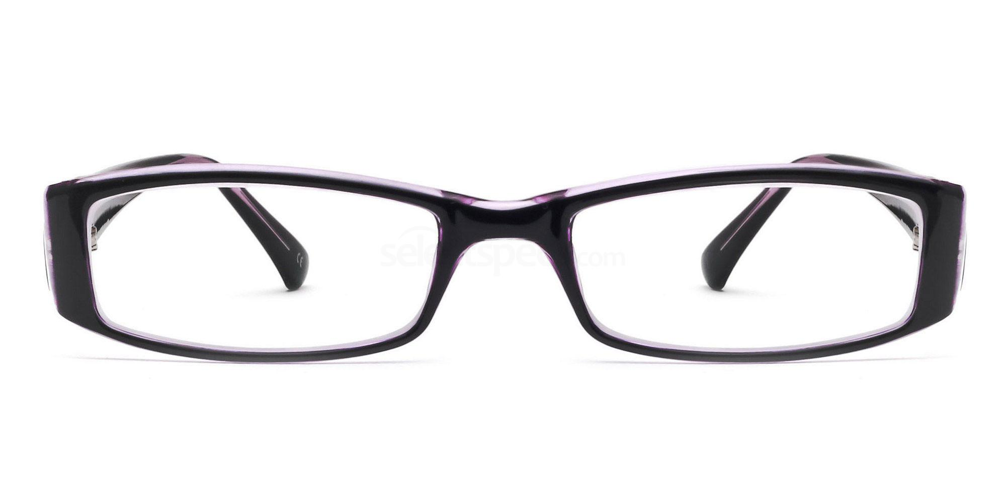 C44 P2251 - Black and Purple Glasses, Savannah