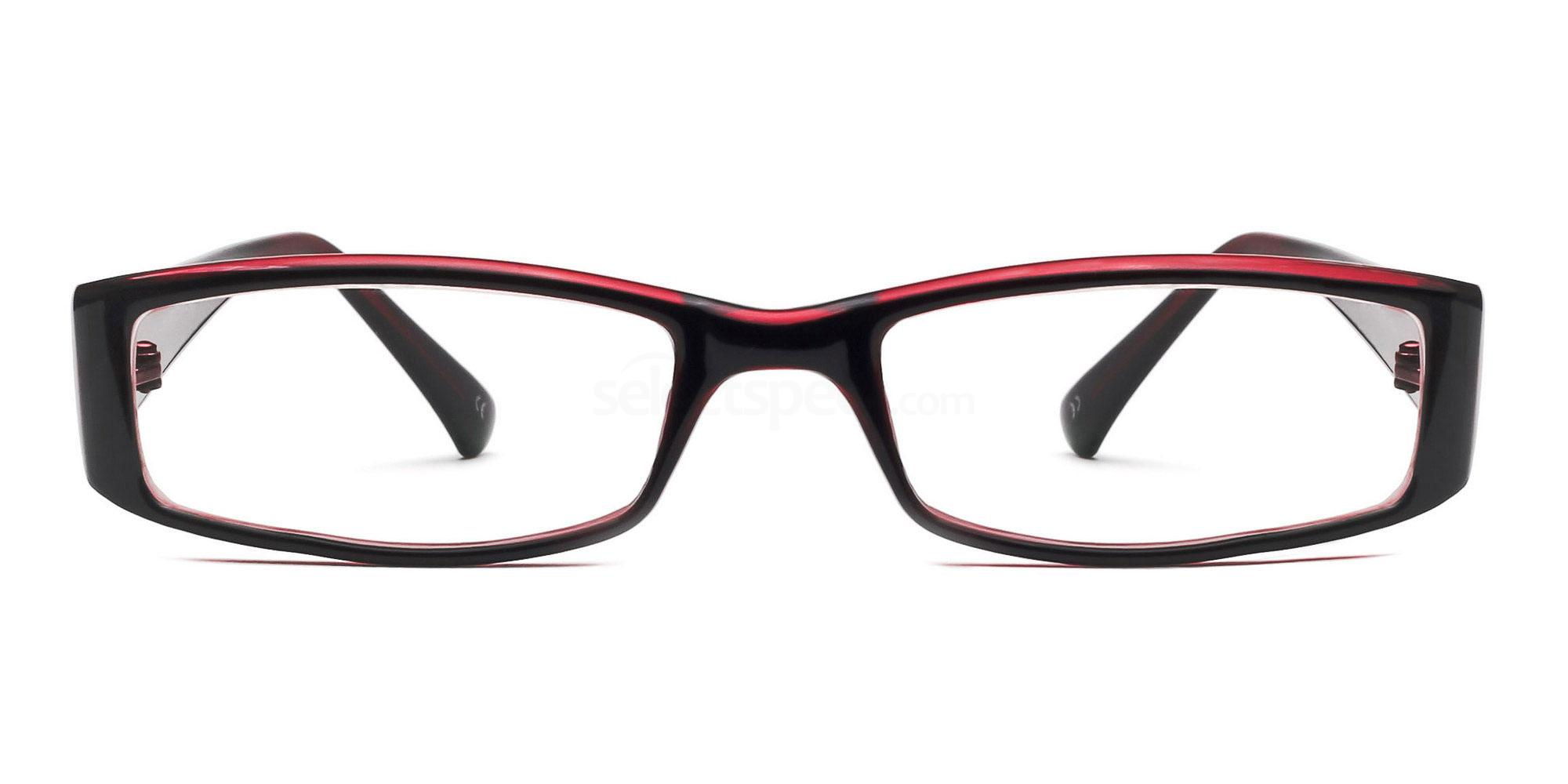 C38 P2251 - Black and Red Glasses, Savannah