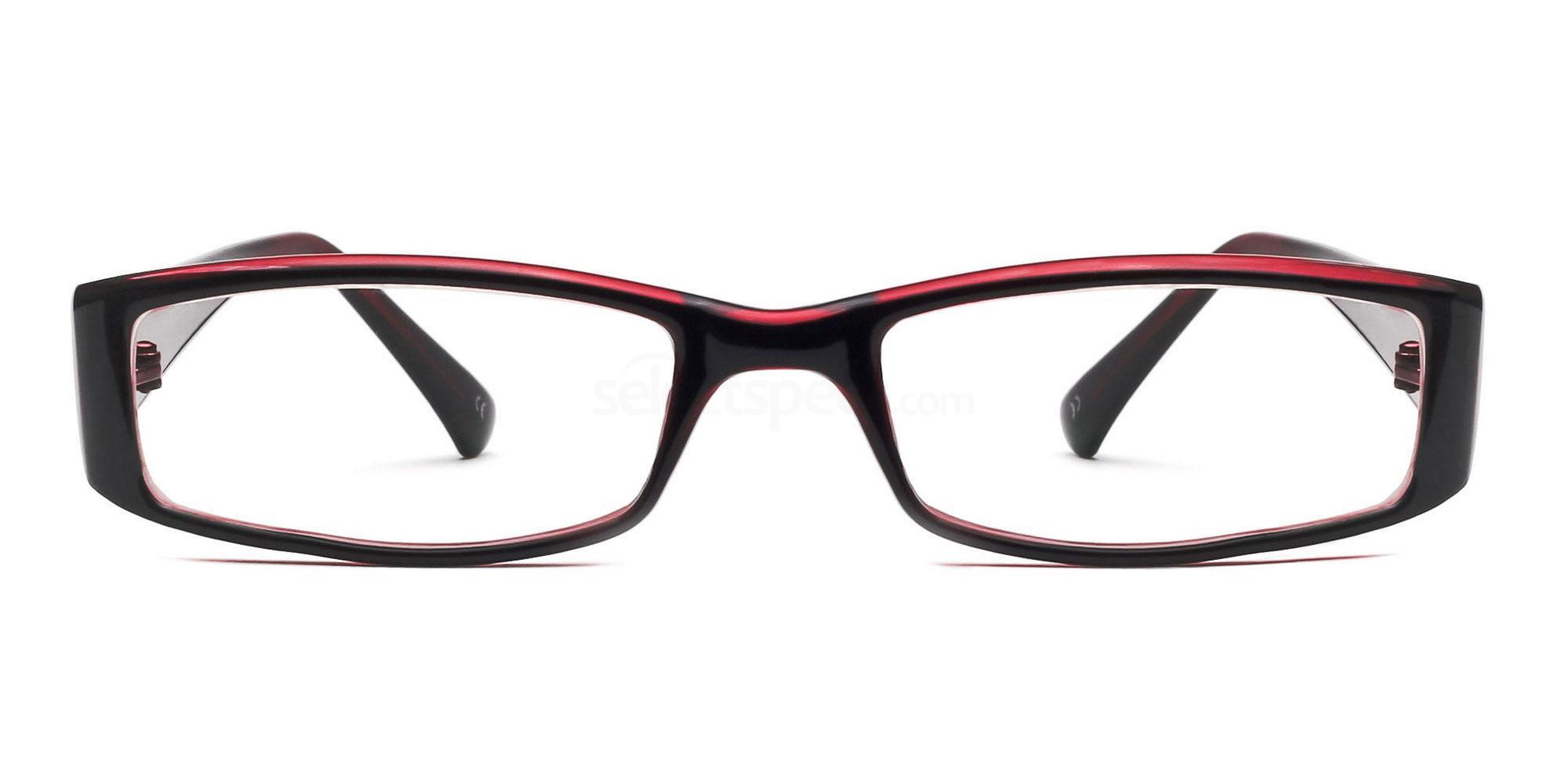 C38 P2251 - Black and Red Glasses, Savannah