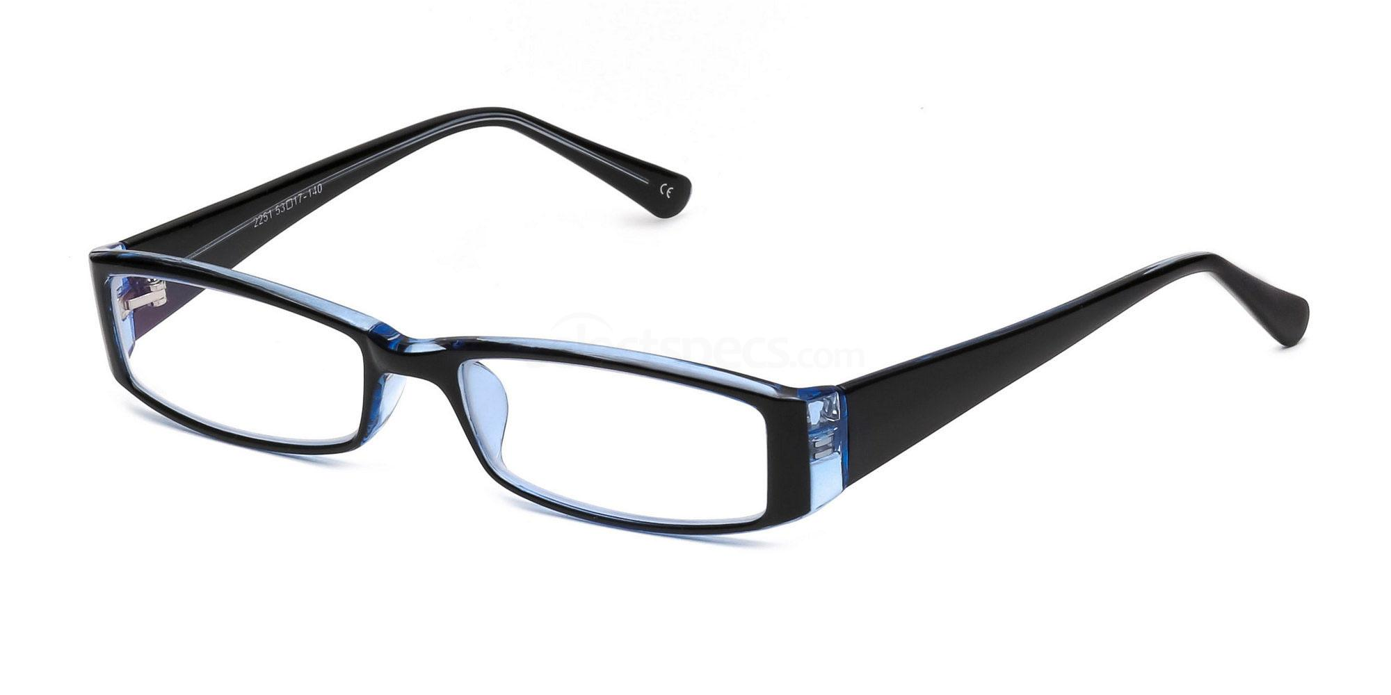 C48 P2251 - Black and Blue Glasses, SelectSpecs