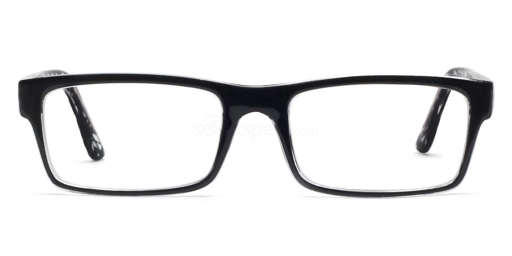 Black and Clear P2329 - Black and Clear Glasses, Savannah