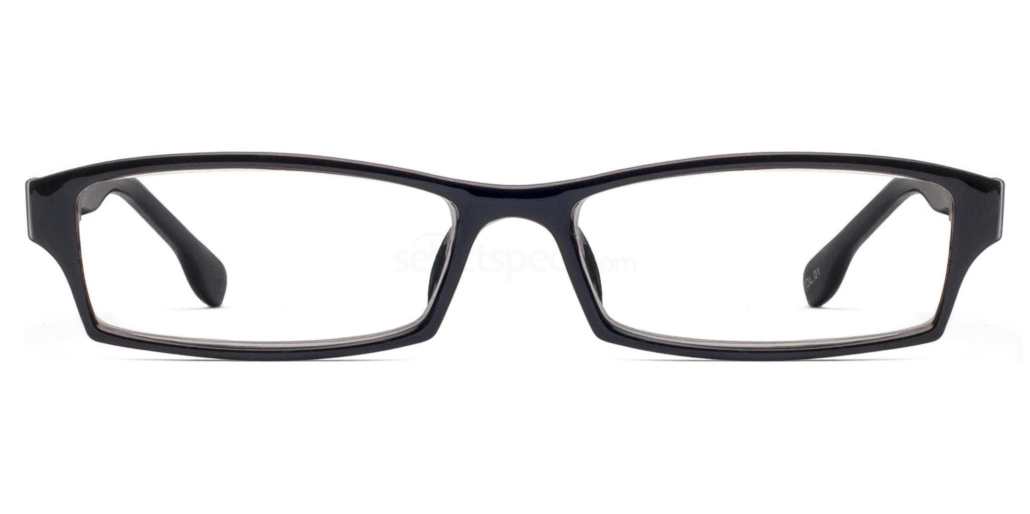 C1 P2381 - Black Glasses, Savannah