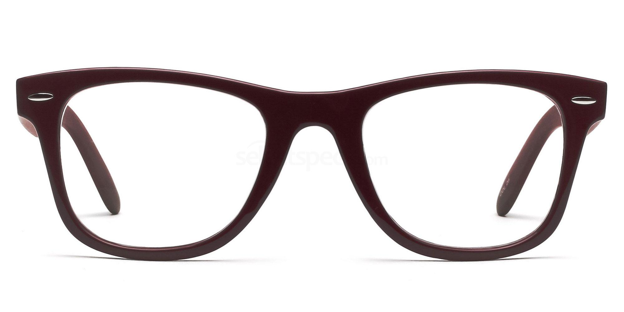 Dark Red P2429 - Red (with wood effect) Glasses, SelectSpecs