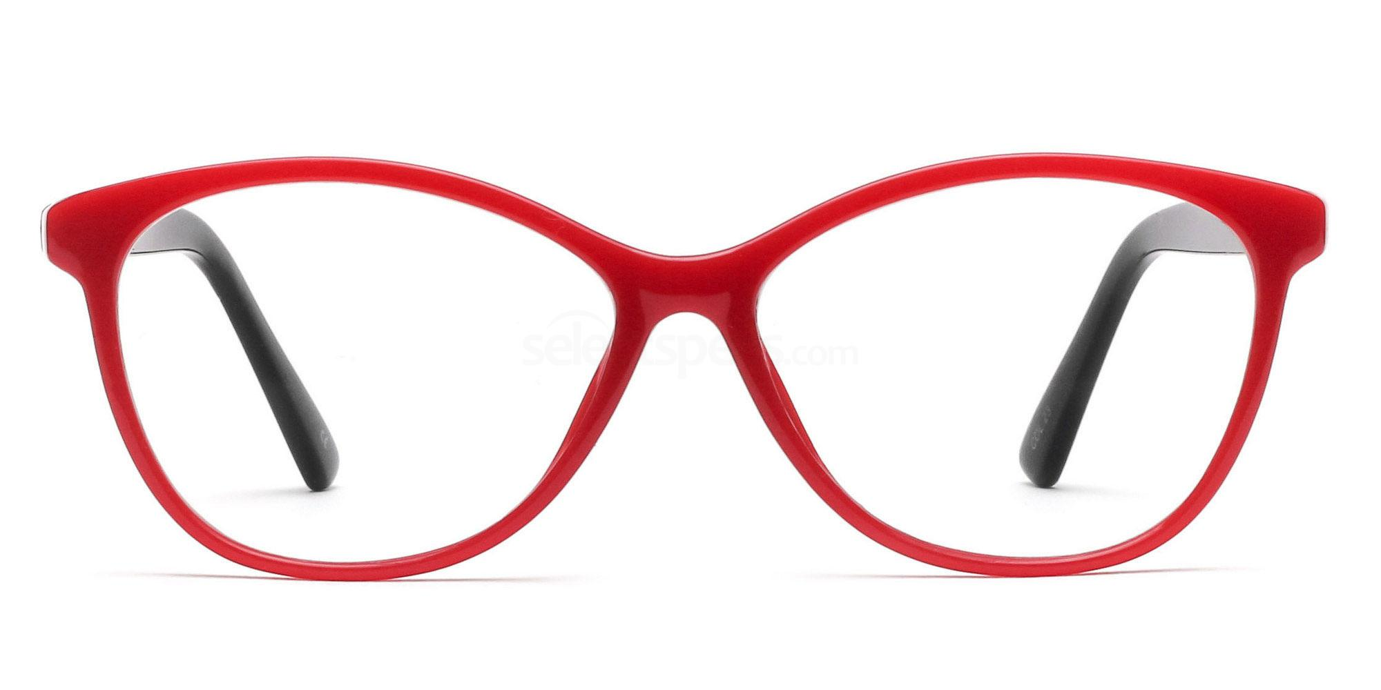 COL.23 2439 - Red and Black Glasses, Savannah