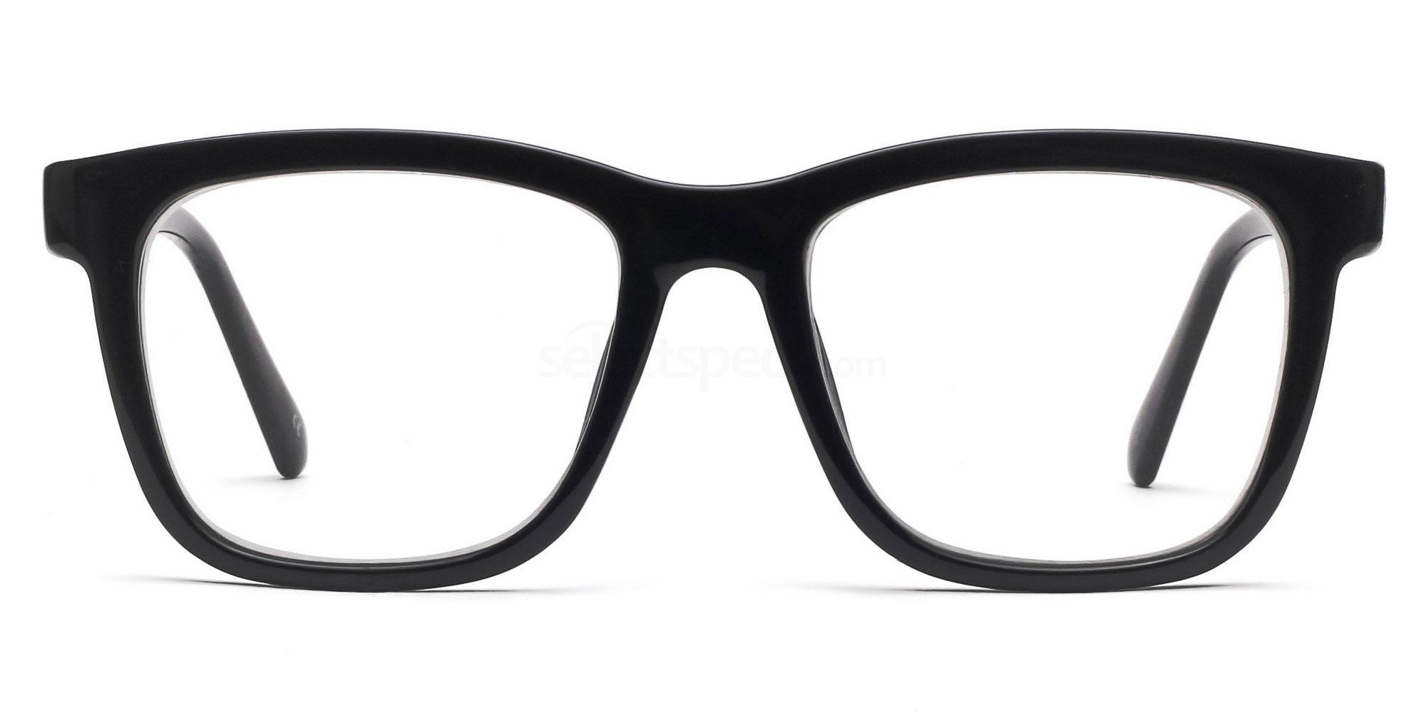black squared framed sunglasses
