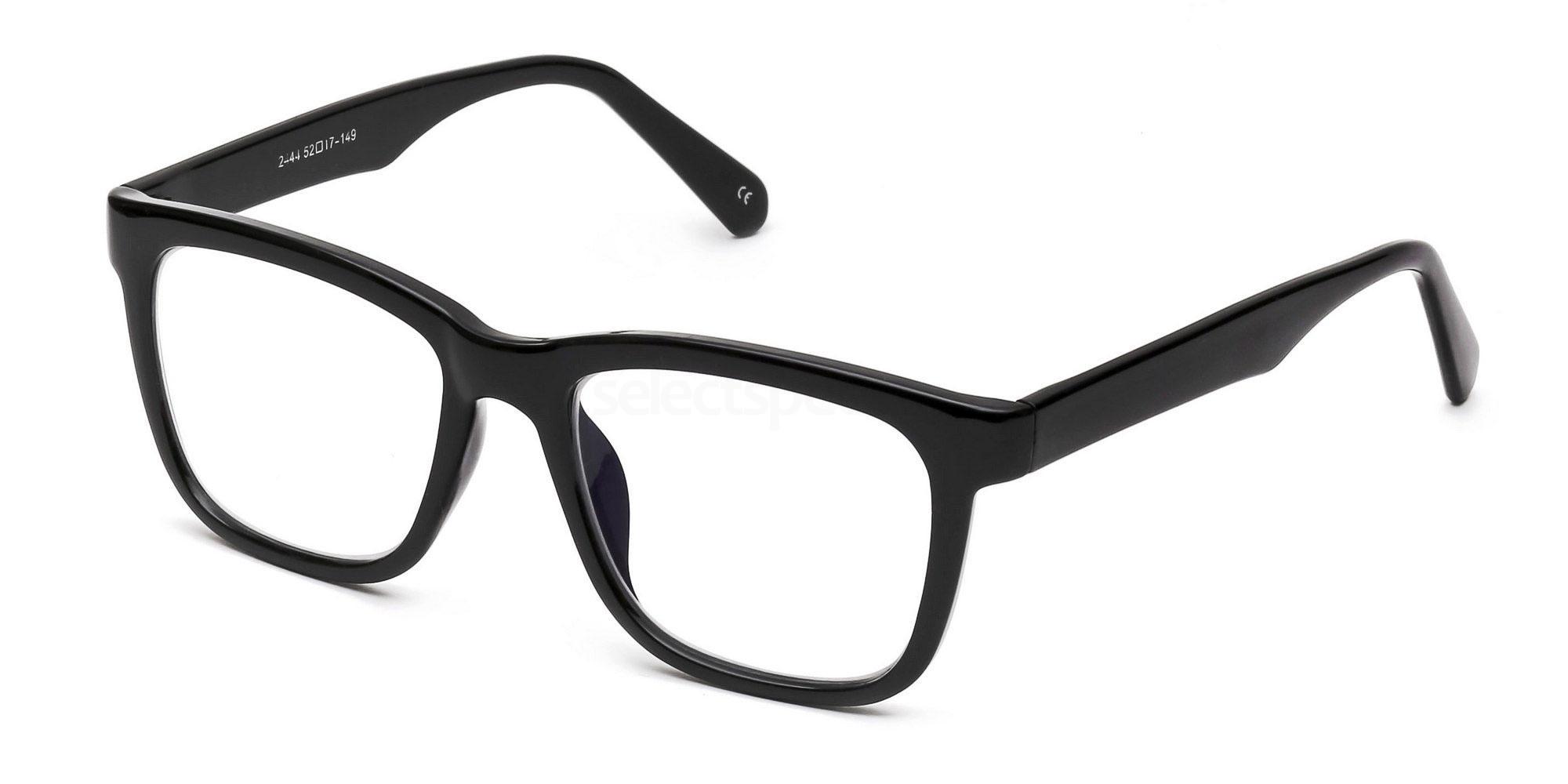thick black glasses