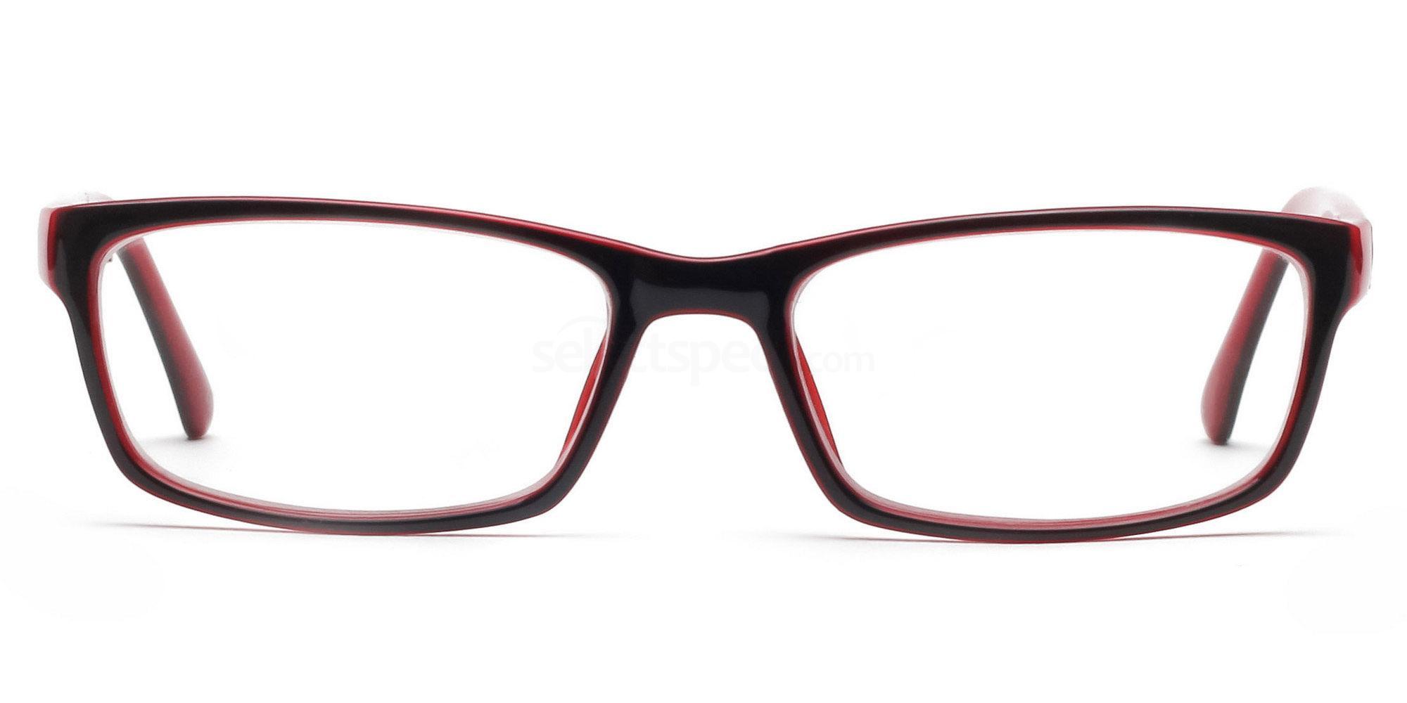 COL.23 2426 - Black and Red Glasses, Savannah