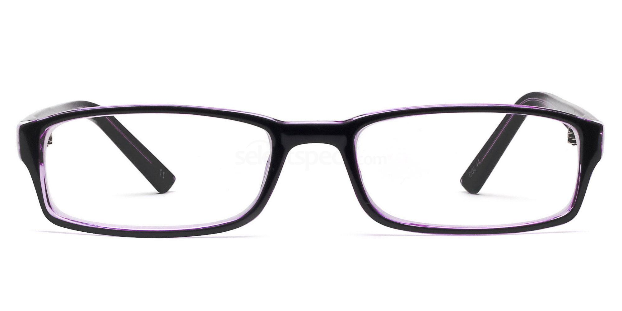 COL.44 2264 - Purple and Black Glasses, Savannah