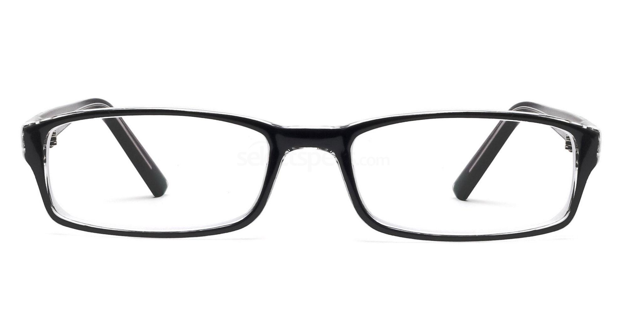 C33 2264 - Black and Clear Glasses, Savannah