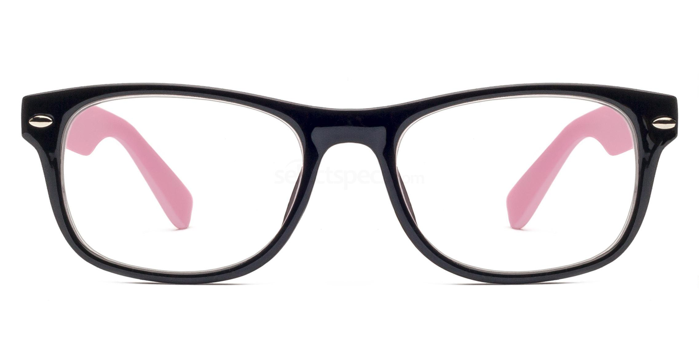 C86 P2383 - Black and Pink Glasses, Savannah