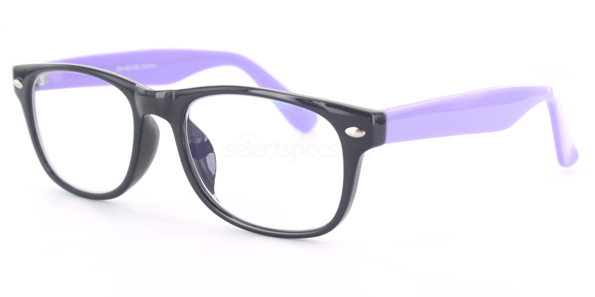 C90 P2383 - Black and Purple Glasses, Savannah