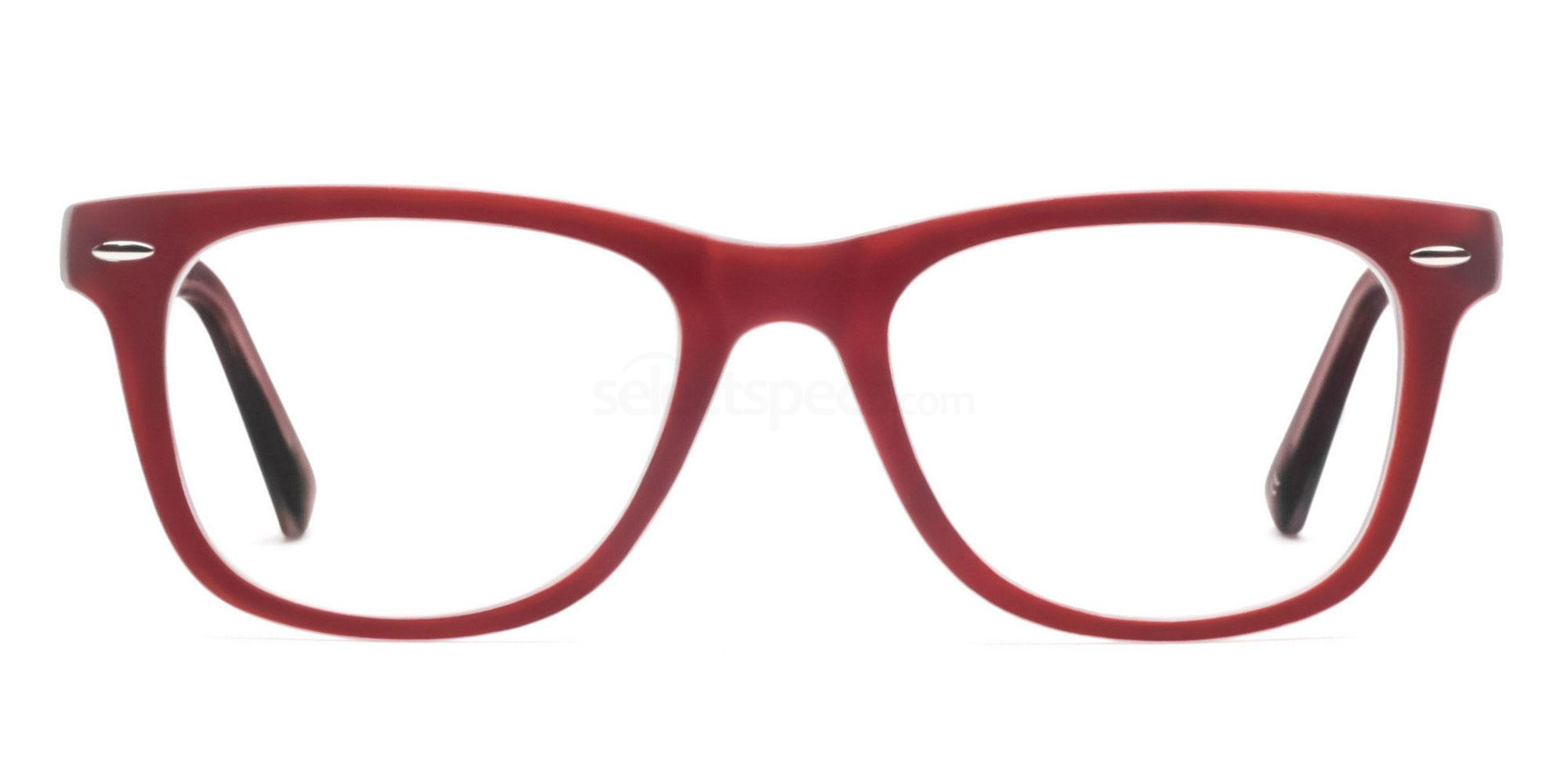 C13 8121 - Maroon on Transparent Glasses, Savannah