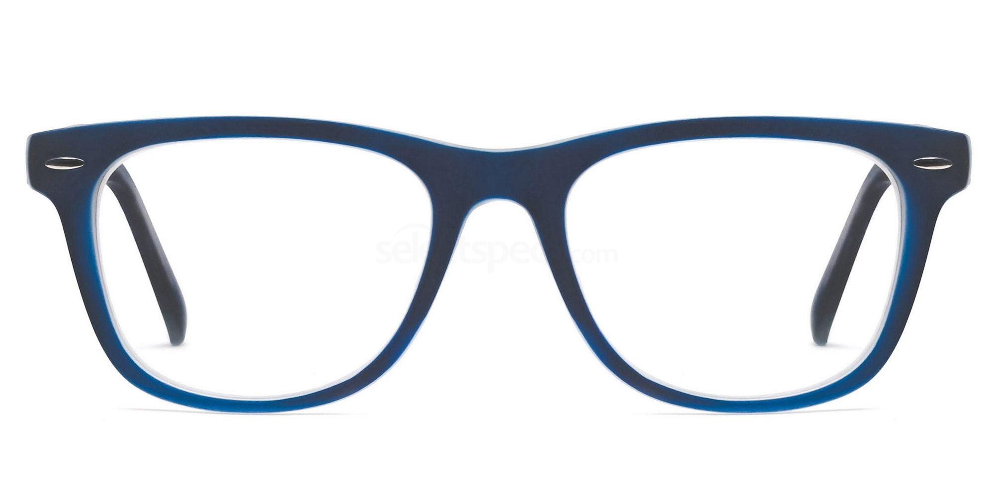 C14 8121 - Navy on Transparent Glasses, Savannah