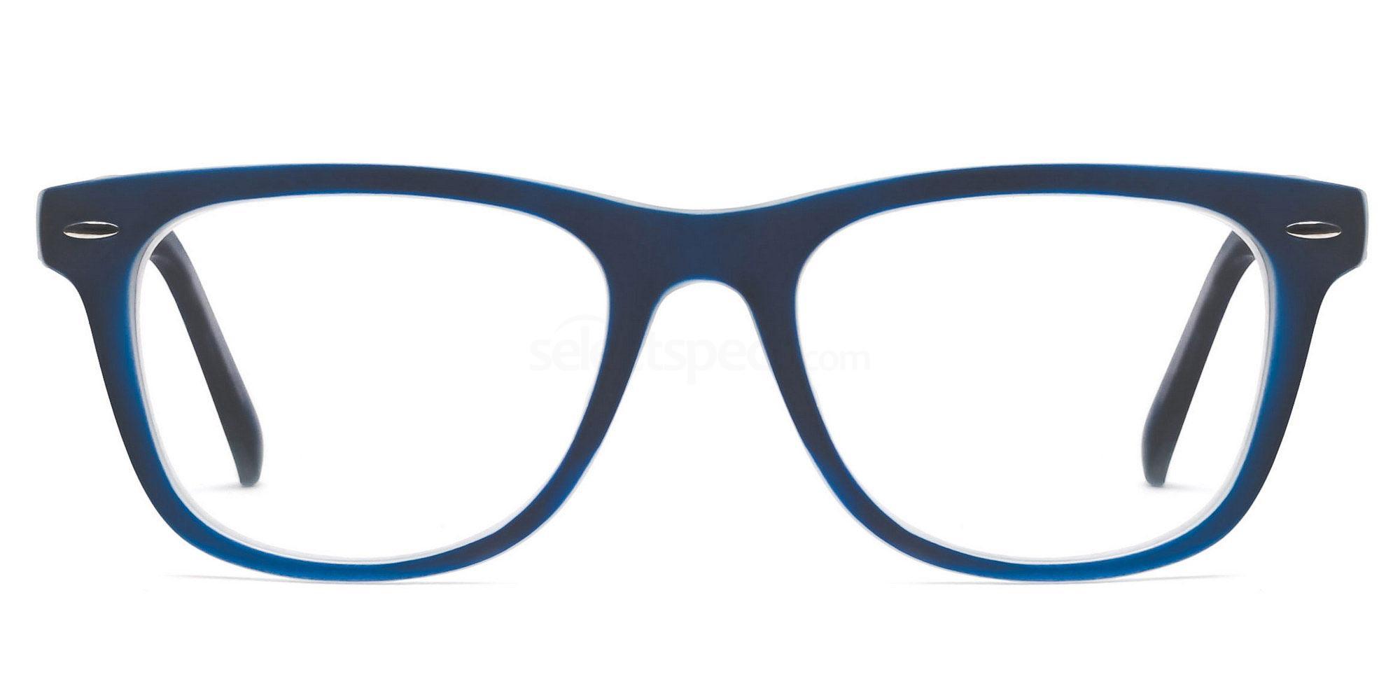 C14 8121 - Navy on Transparent Glasses, SelectSpecs