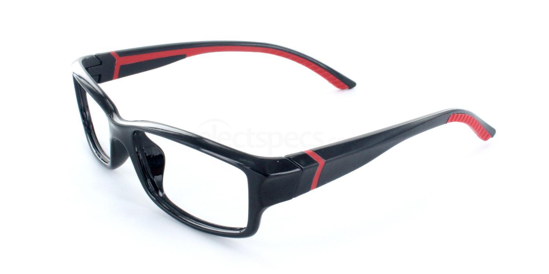 Black and Red 6033 Glasses, Savannah