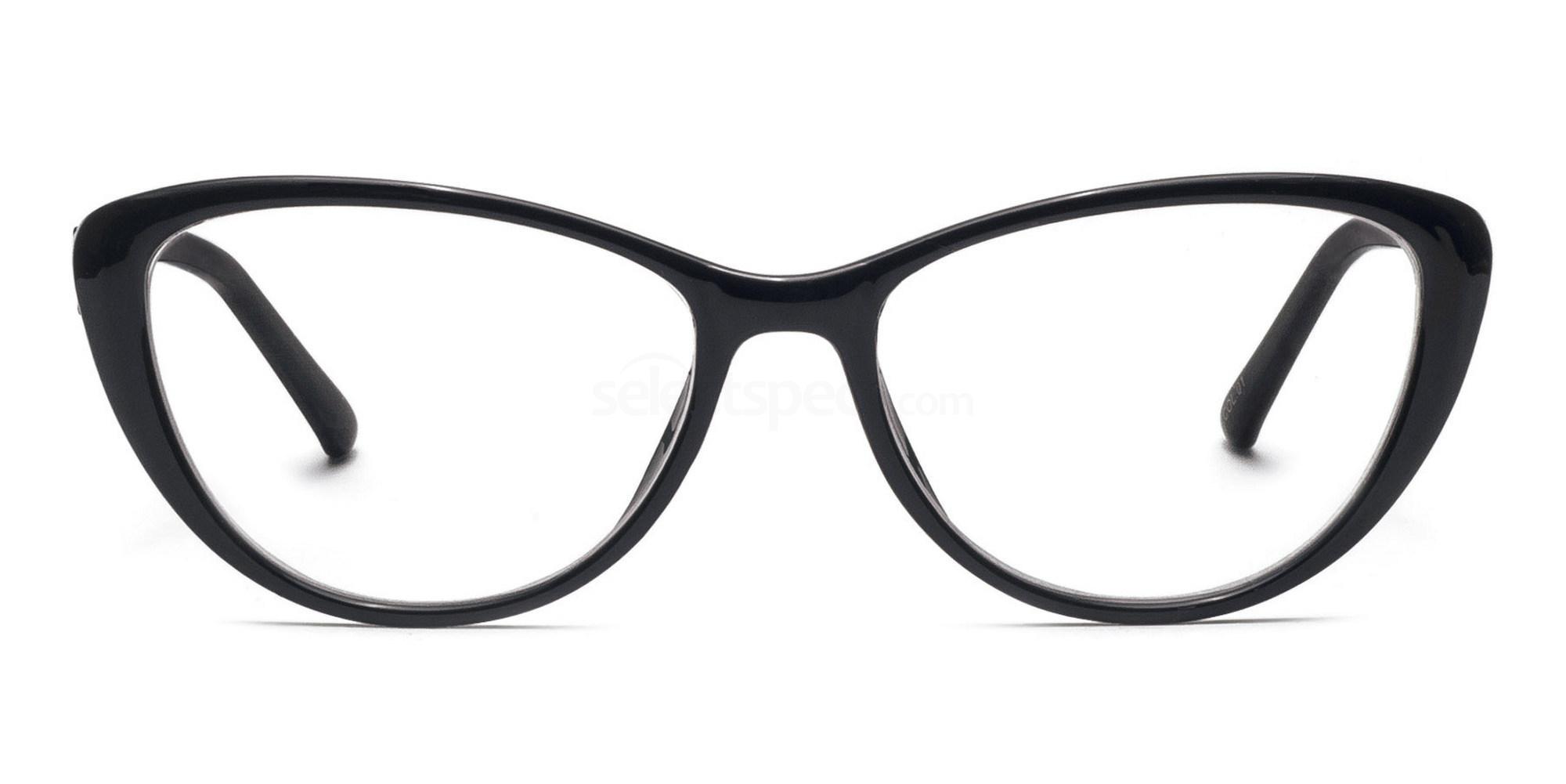 C1 2489 - Black Glasses, Savannah