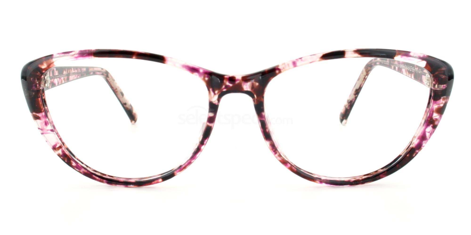 C14 2489 - Pink Demi Glasses, Savannah