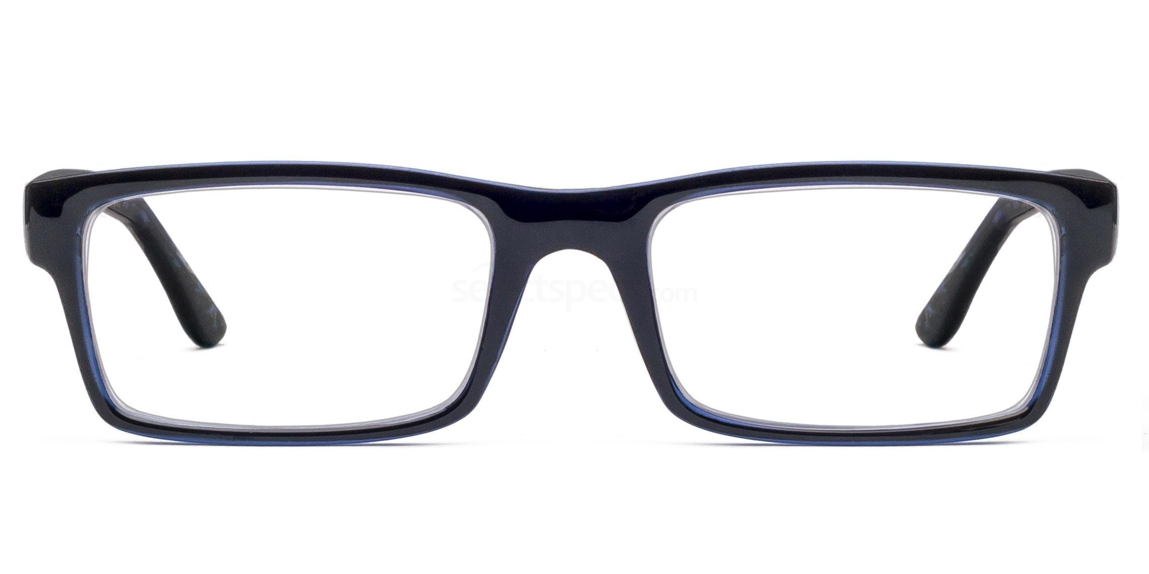 Col. 35 2329 - Black on Blue Glasses, Savannah