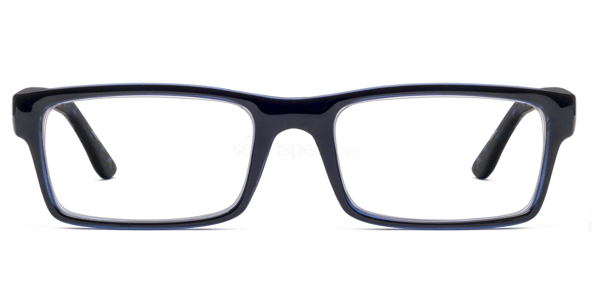Col. 35 2329 - Black on Blue Glasses, Savannah