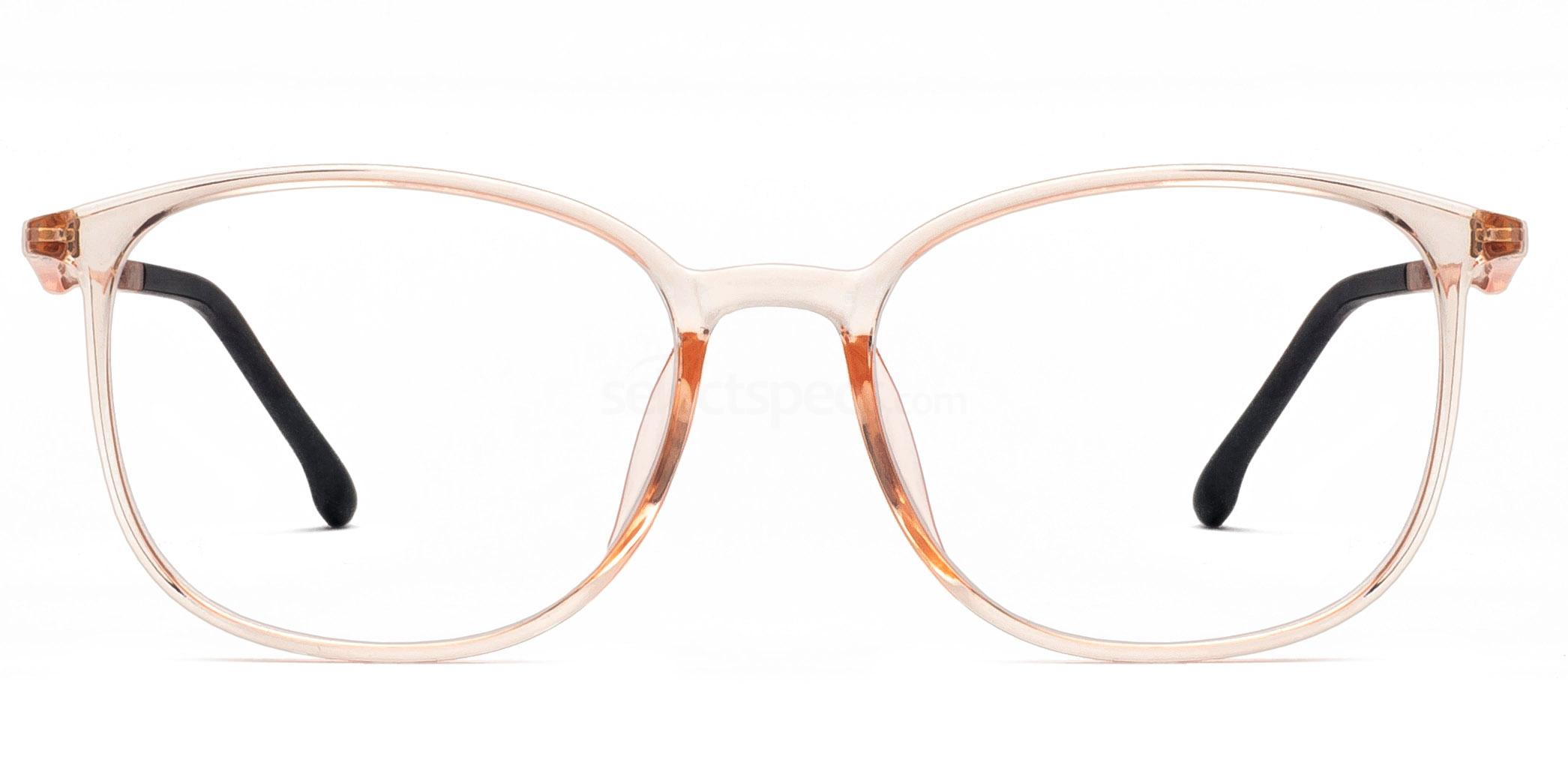 AW20 eyewear trends transparent glasses warm tones orange
