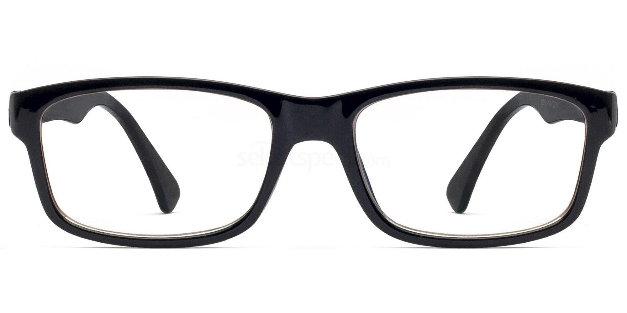 C001 5580 - Black Glasses, Savannah
