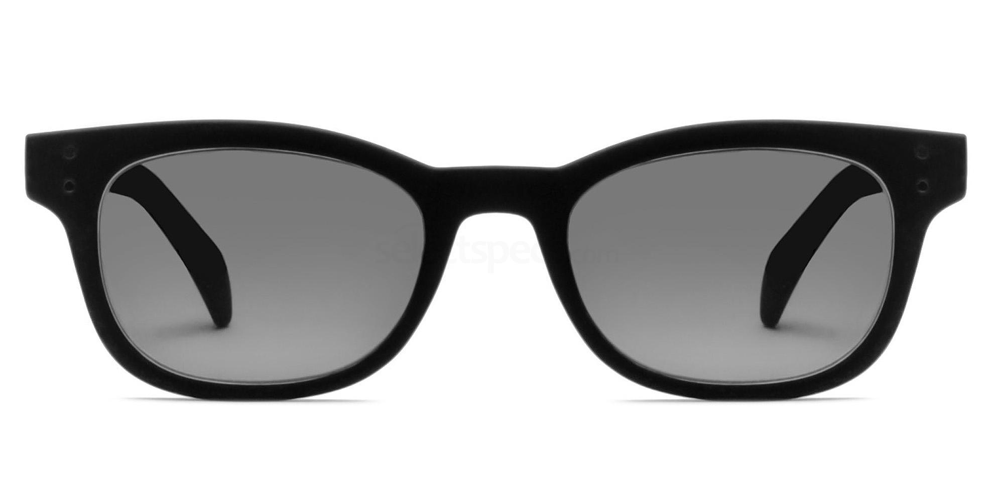C02 Polarized Grey 2249 - Matte Black (Polarized) Sunglasses, Savannah