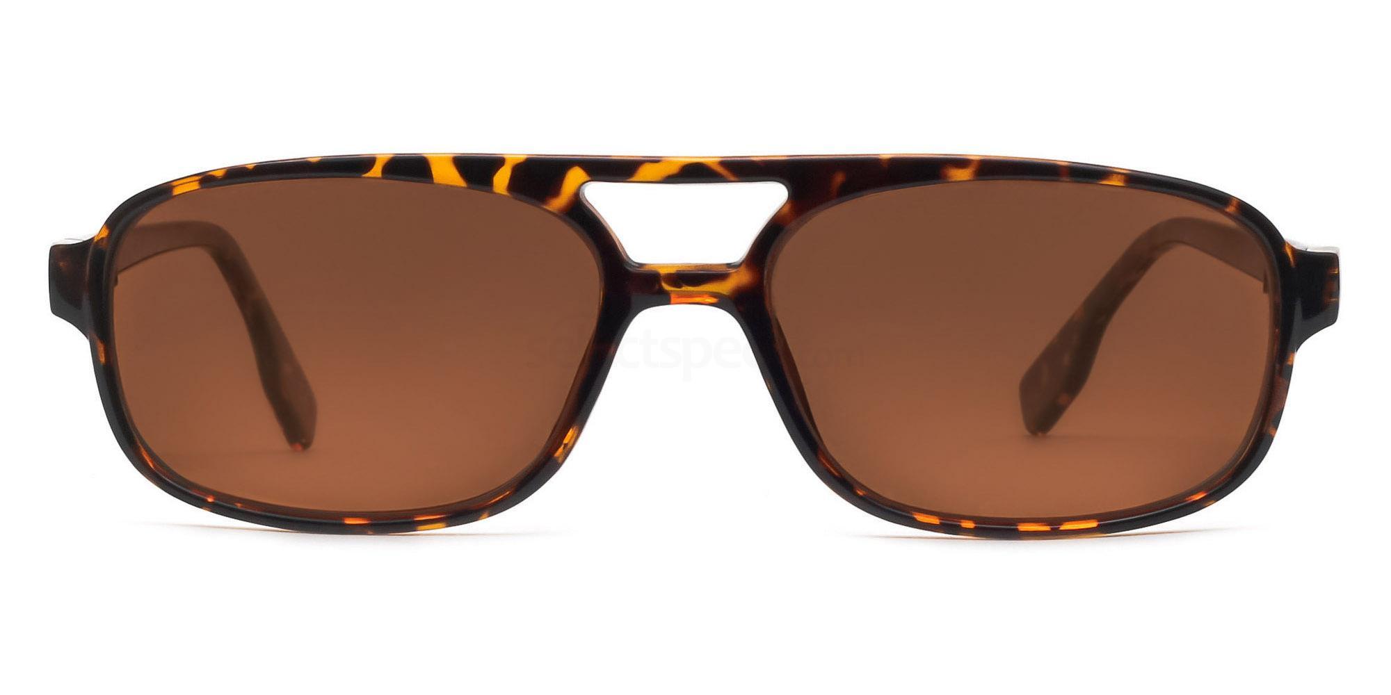 C04 Polarized Brown P2395 - Demi Havana (Polarized) Sunglasses, Savannah