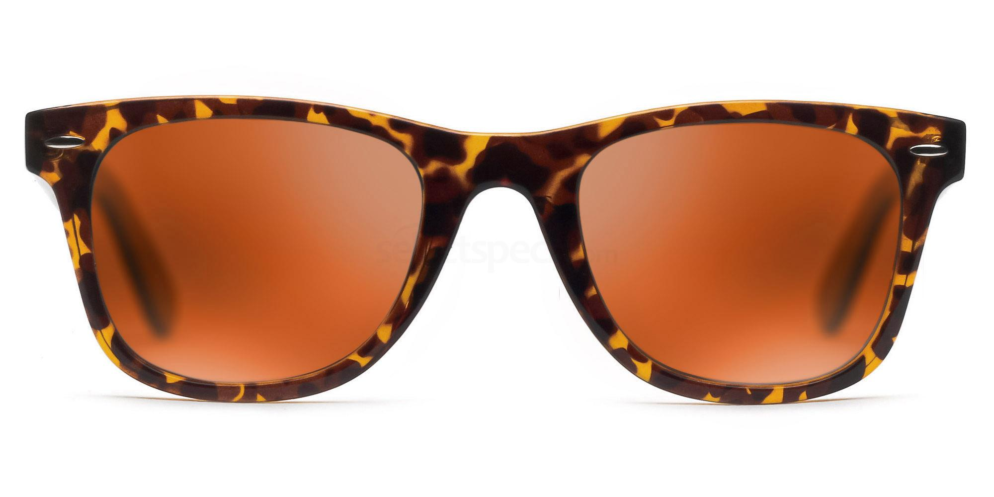 C04 Polarized Grey with Orange Mirror P2429 - Havana (Mirrored Polarized) Sunglasses, Savannah