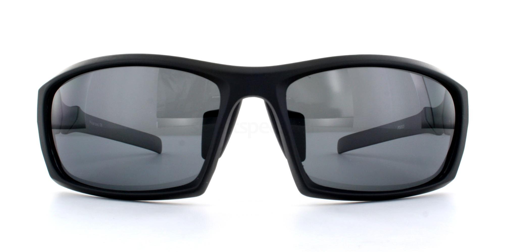 Matte Black + Grey Lens P5005 Sunglasses, Aero