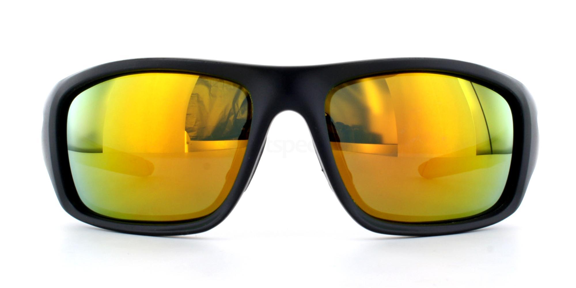Matte Black + Revo Red Lens P5009 Sunglasses, Aero