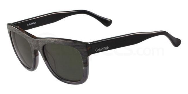 081 CK4312S Sunglasses, Calvin Klein Platinum