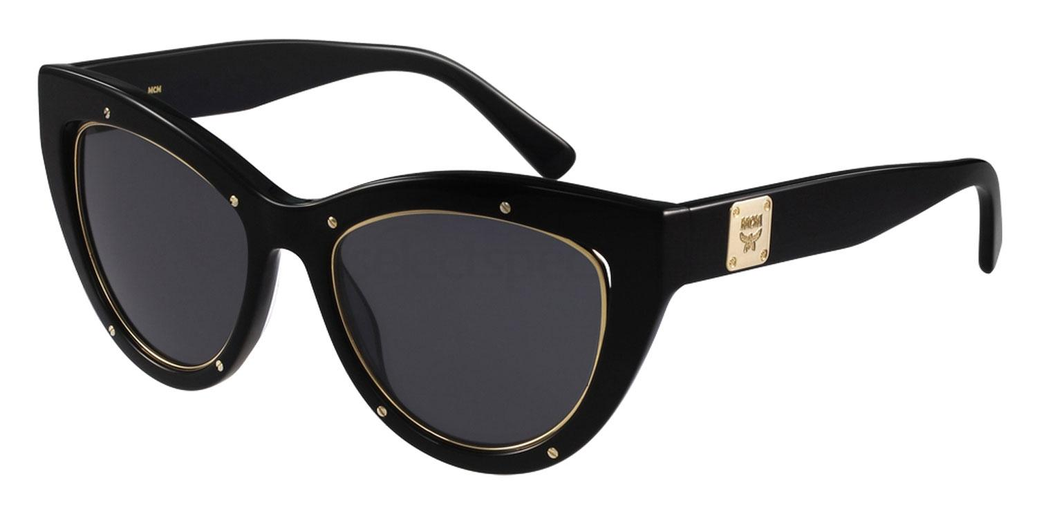 MCM black rock studs sunglasses