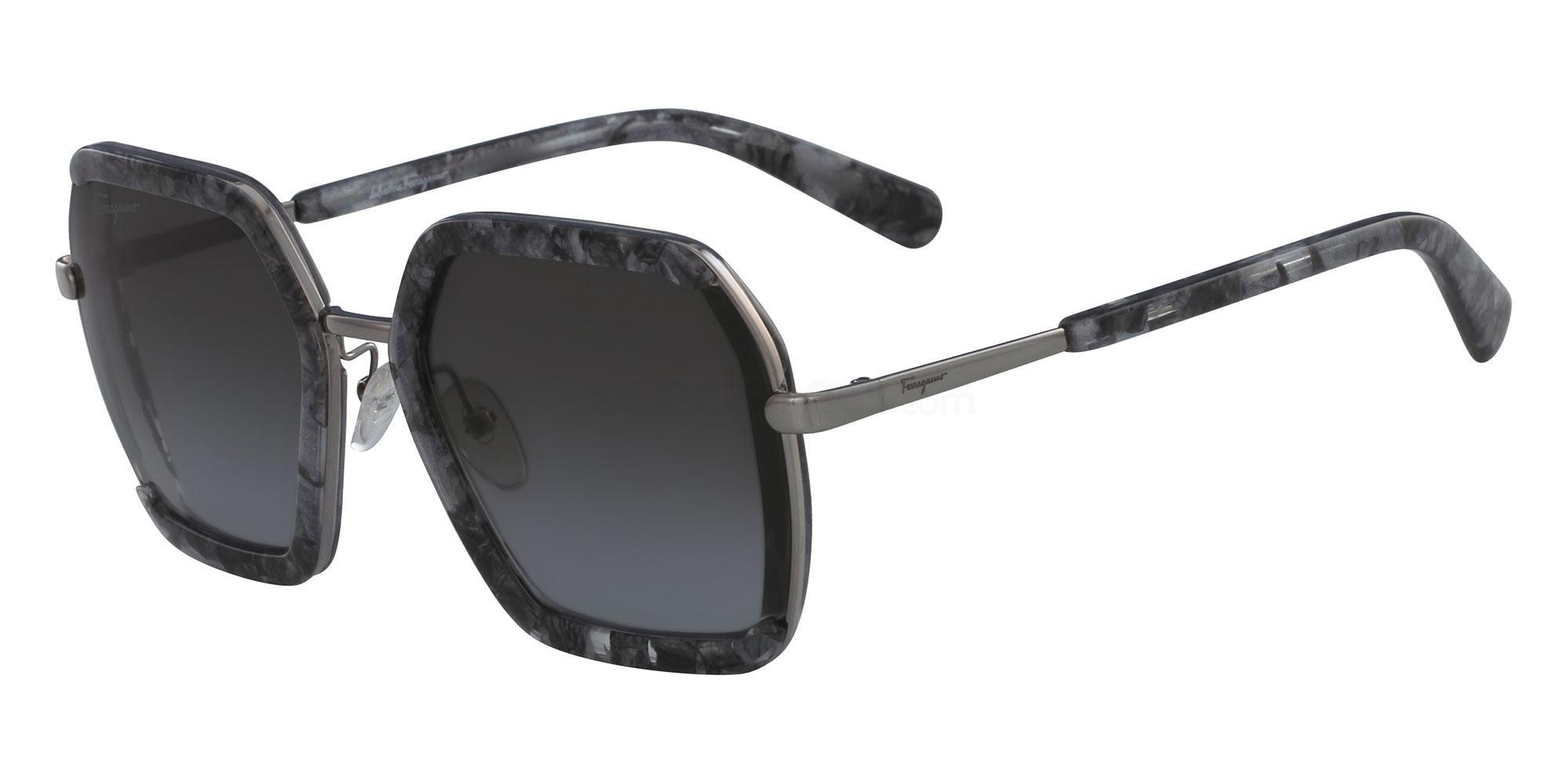 042 SF901S Sunglasses, Salvatore Ferragamo