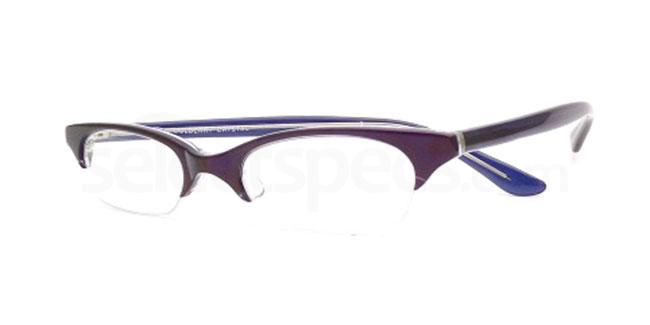 Blueberry Crystal 817 Glasses, Booth & Bruce Design