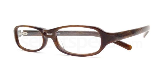 Brown Wood 818 Glasses, Booth & Bruce Design