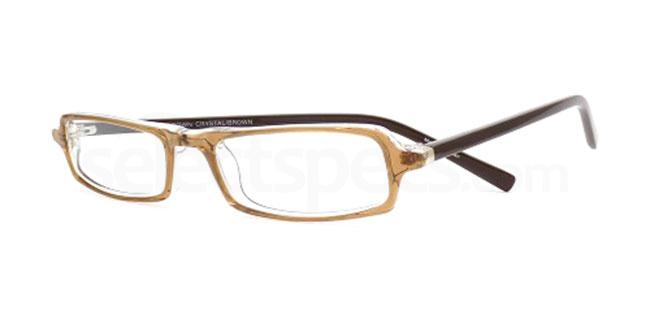 Brown Crystal Brown 824 Glasses, Booth & Bruce Design