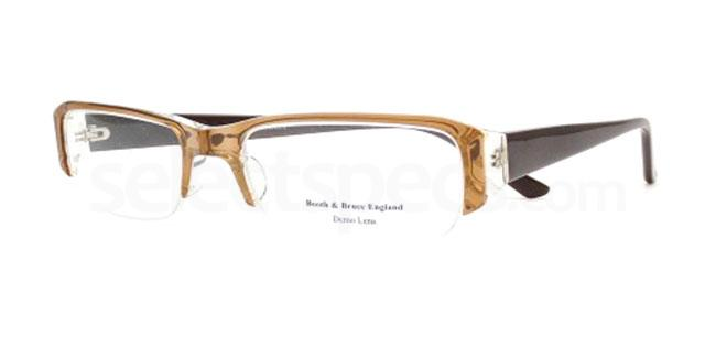 Brown on Crystal Brown 869 Glasses, Booth & Bruce Design