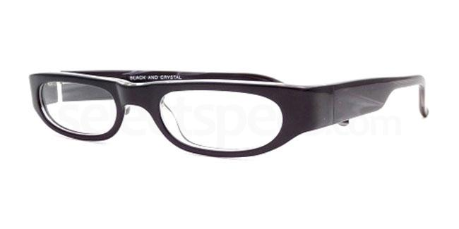 Black and Crystal 870 Glasses, Booth & Bruce Design
