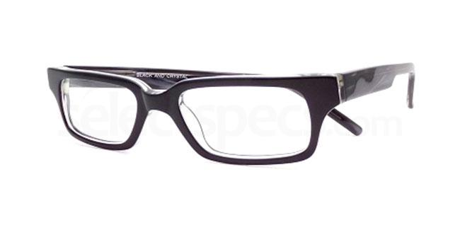 Black and Crystal 872 Glasses, Booth & Bruce Design