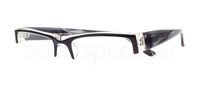Black and Crystal 873 Glasses, Booth & Bruce Design