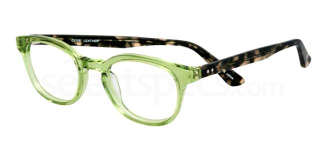 olive leather 910 Glasses, Booth & Bruce Design
