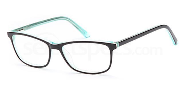 Black/Green D 33 Glasses, Brooklyn