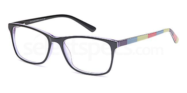 Black/Purple D 39 Glasses, Brooklyn