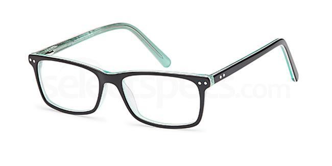 Black/Green D 53 Glasses, Brooklyn