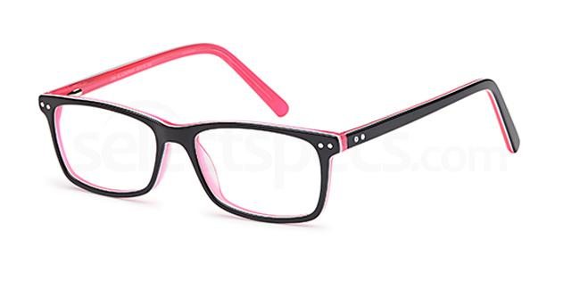 Black/Pink D 53 Glasses, Brooklyn