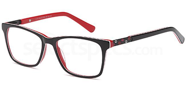 Black/Red D60 Glasses, Brooklyn