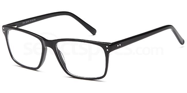 Black D61 Glasses, Brooklyn