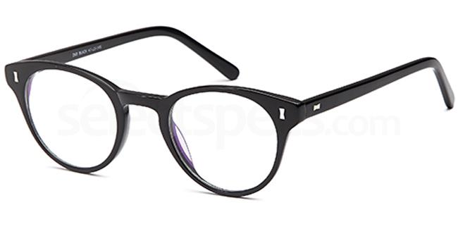 Black D68 Glasses, Brooklyn