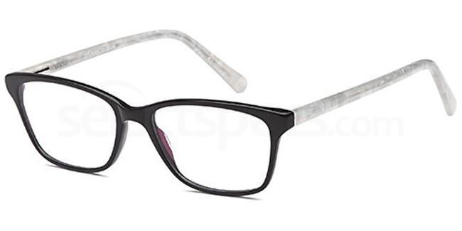 Black D74 Glasses, Brooklyn